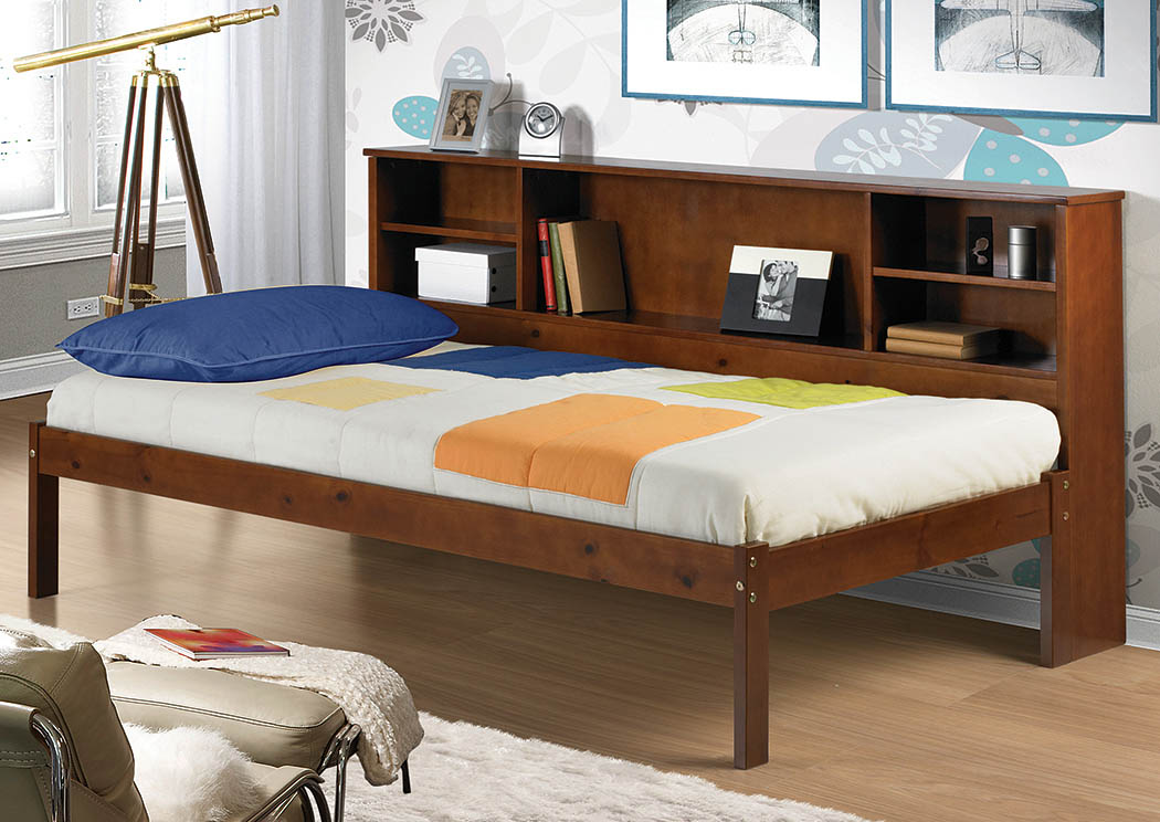 Twin Light Espresso Bookcase Daybed,Donco Kids