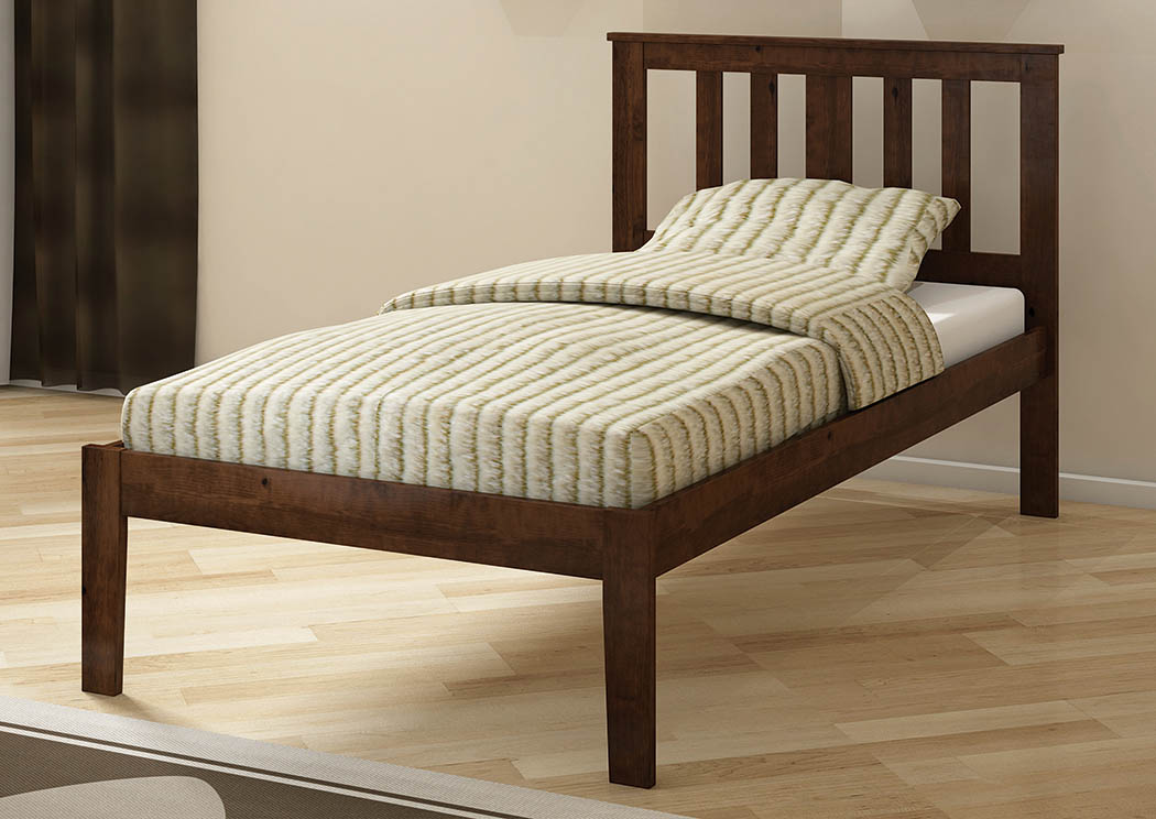 Dark Cappuccino Twin Mission Bed,Donco Kids