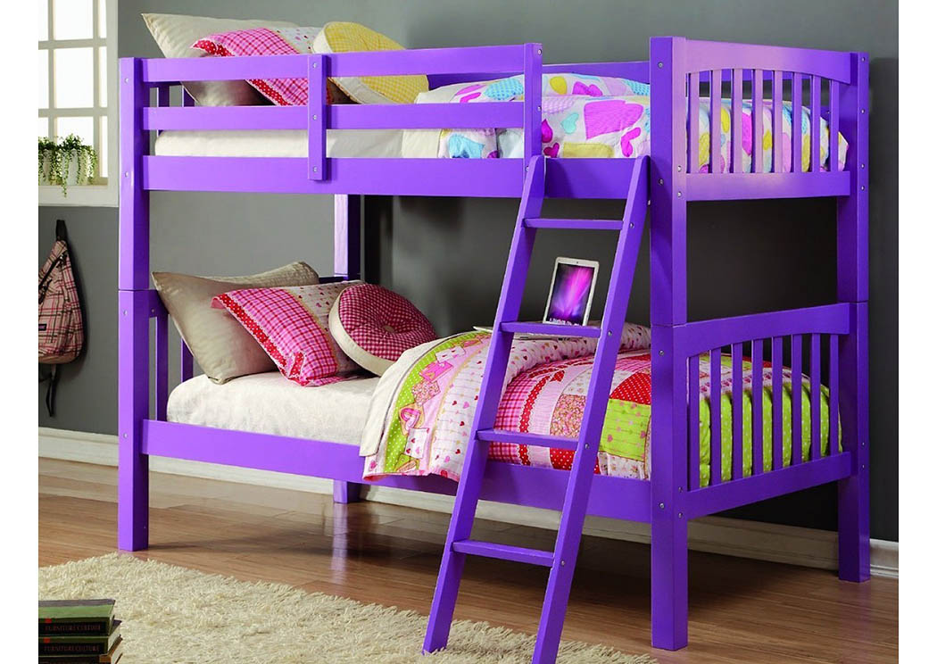 Twin/Twin Grapevine Bunk Bed w/Tilt Ladder,Donco Kids