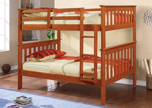 Twin/Twin Mission Bunk Bed w/Ladder