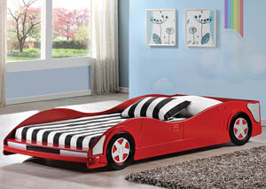 Image for Twin/Twin Red Race Car Bed