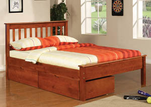 Contempo Light Espresso Full Bed