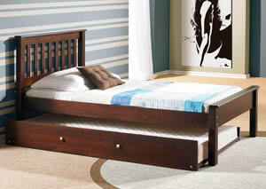 Contempo Dark Cappuccino Twin Bed
