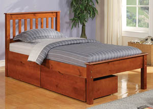 Contempo Light Espresso Twin Bed