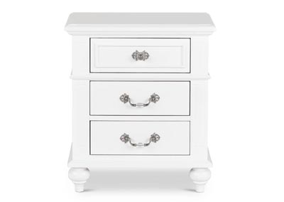 Alana Youth White Nightstand
