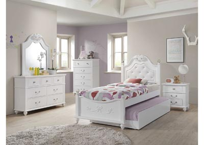 Image for Alana Youth White Full Bed w/Dresser&Mirror