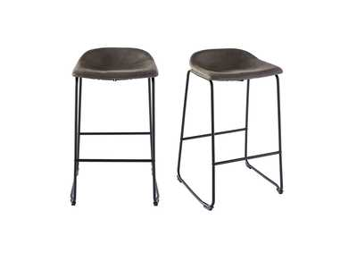 Image for Gray Cruz Bar Stool [Set of 2]