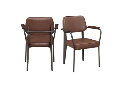Image for Genesis Cognac Side Chair (Set of 2)