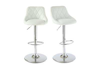Image for White Melissa Bar Stool [Set of 2]