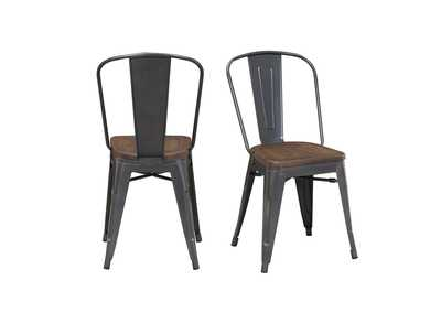 Image for Merryn Gray/brown Side Chair (Set of 2)