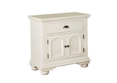 Brook White Nightstand