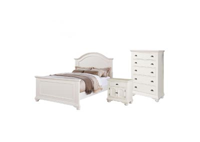 Image for Brook White Queen Bed  w/Dresser&Mirror