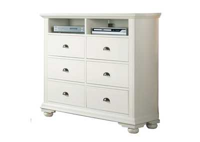 Image for Brookpine White TV Stand
