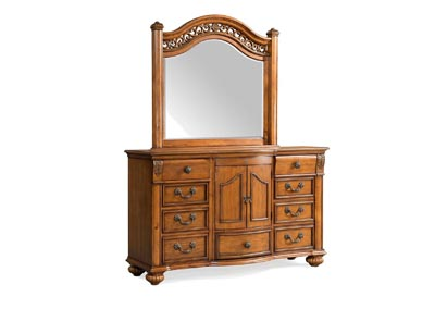 Image for Oak Barkley Square Dresser & Mirror Set