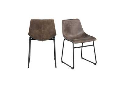 Image for Brown Wes Chair [Set of 2]
