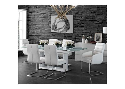 Image for Beaux  White Arm Chair
