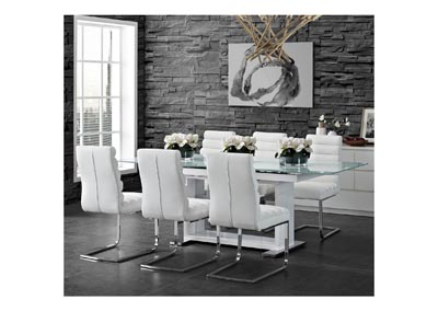Image for Beaux  White Side Chair