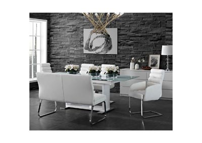 Image for Beaux  White Sofa