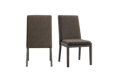 Image for Gray Cross Side Chair [Set of 2]