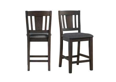 Image for Dark Gray Cash Counter Height Side Chair [Set of 2]