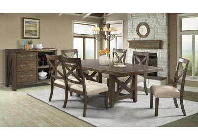 Image for Franklin  Chestnut Dining Table w/Bench&Chair