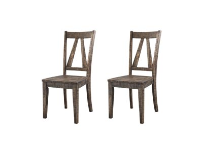Image for Walnut Finn Wooden Side Chair [Set of 2]