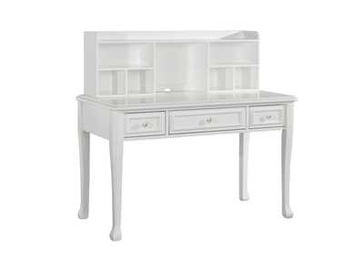 Image for White Jesse  Desk w/ Hutch