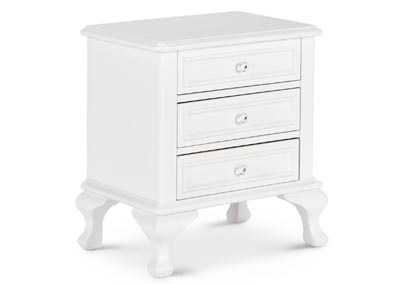 Jesse Youth White Nightstand