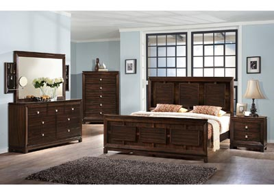 Image for London King Bed w/Dresser&Mirror