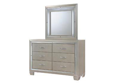 Platinum Youth Yellow Dresser w/Mirror