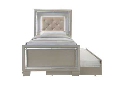 Image for Champagne Platinum Youth Twin Platform Bed w/ Trundle