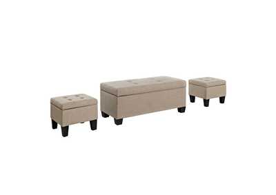 Image for Ethan 3PK Storage Ottoman in Natural