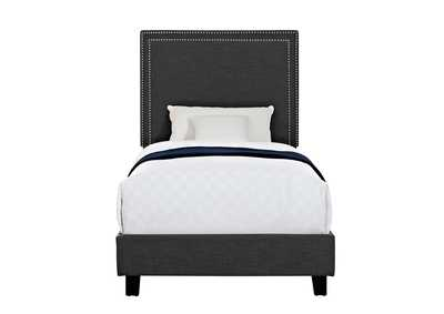 Image for Charcoal Erica Upholstered Twin Platform Bed