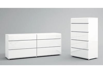 Image for Sara White Dresser/Chest Set