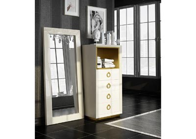 Image for Velvet Beige Velvet Chest/Dresser Set