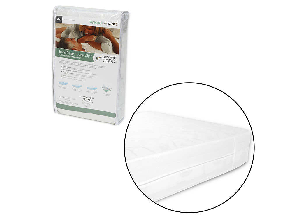 InvisiCase White Queen Mattress Encasement,Fashion Bed Group