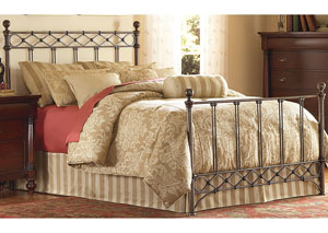 Argyle Copper Chrome Full Bed