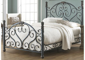 Duchess Cerulean Marble California King Bed