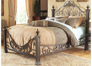 Baroque Gilded Slate California King Bed