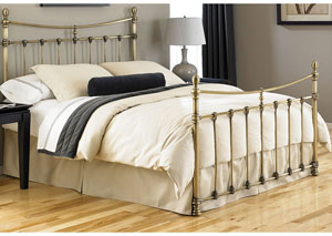Leighton Antique Brass California King Bed