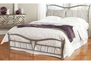 Lotus Brushed Pewter California King Snap Bed