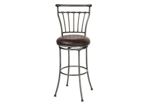 Topeka Silver 30-Inch Barstool