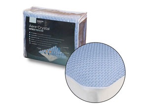 Aere Blue Split King Mattress Protector