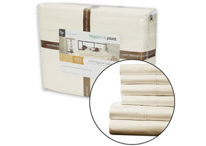 Soothing Ivory Full XL Bed Sheets
