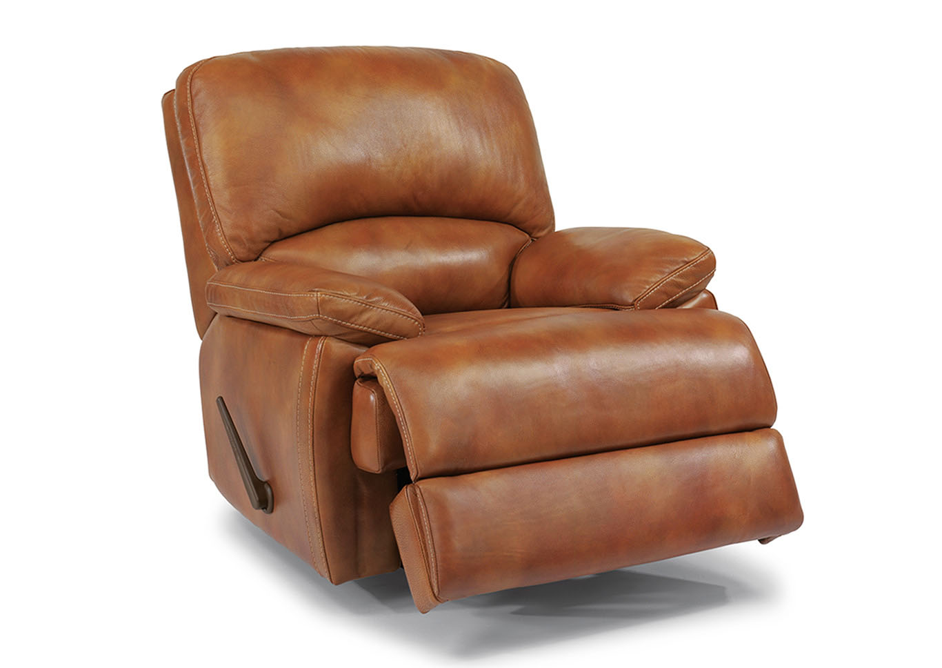 Ivan Smith Dylan Leather Rocking Recliner W Chaise Footrest