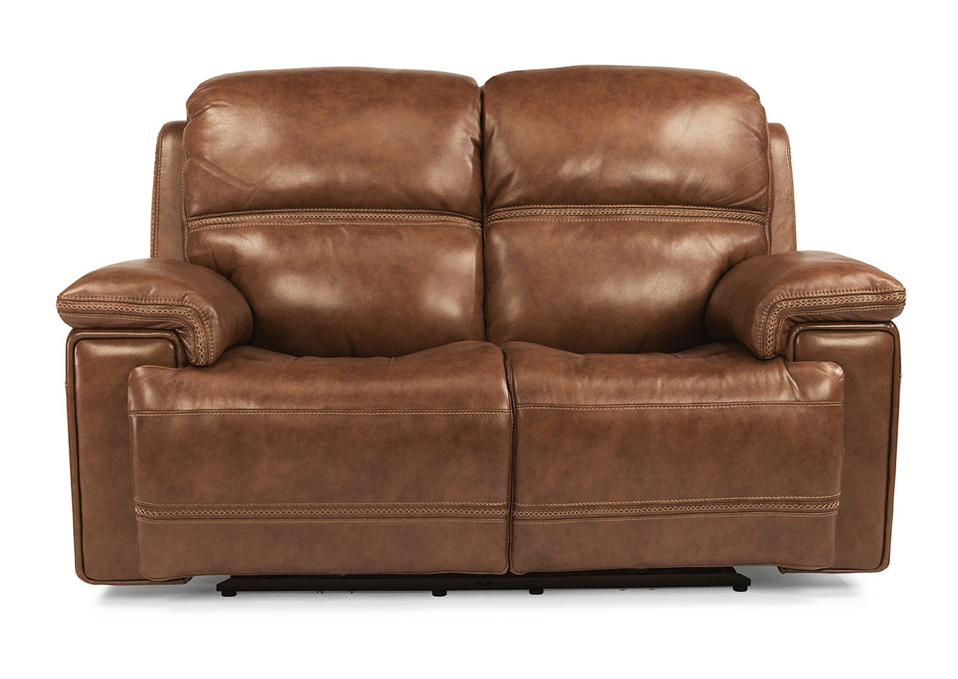 V. Watts Furniture Fenwick Leather Power Reclining Loveseat w/Power ...