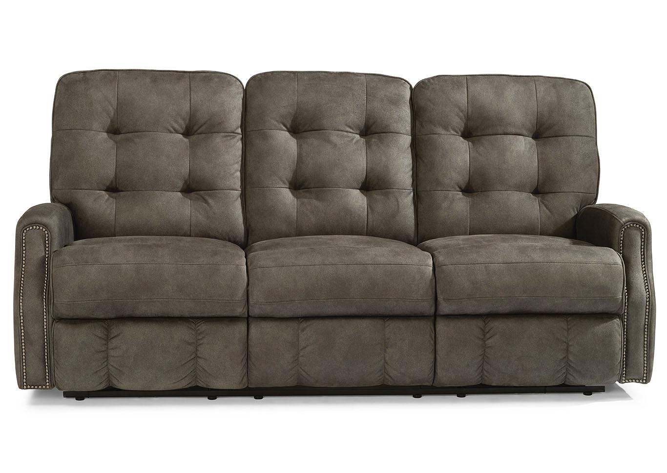 Genial Devon Fabric Power Reclining Sofa W/Nailhead Trim,Flexsteel