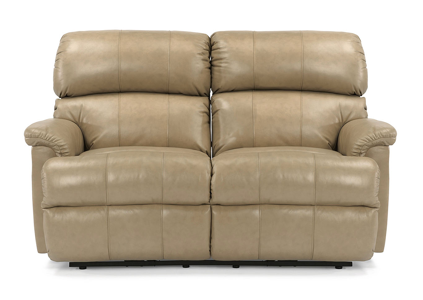 V Watts Furniture Chicago Leather Reclining Loveseat