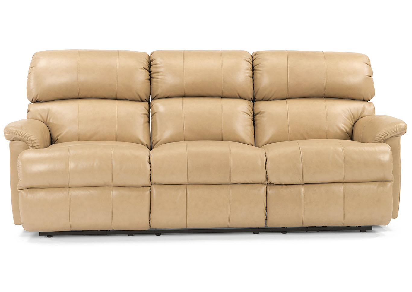 V. Watts Furniture Chicago Leather Reclining Sofa