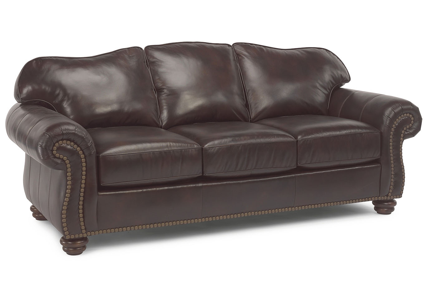 Country House Furniture Bexley Leather Sofa w/Nailhead Trim